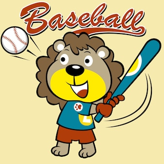 Desenhos animados do jogador de beisebol