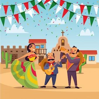 Desenhos animados do mexicano cinco de mayo