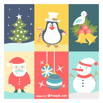 Desenhos animados do natal do vintage