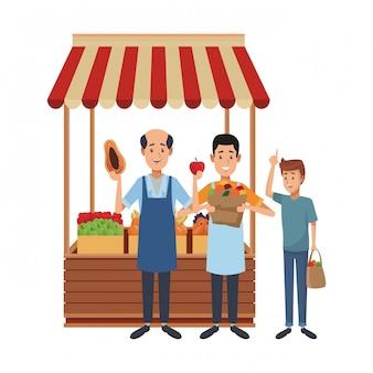 Desenhos animados do negócio do mantimento