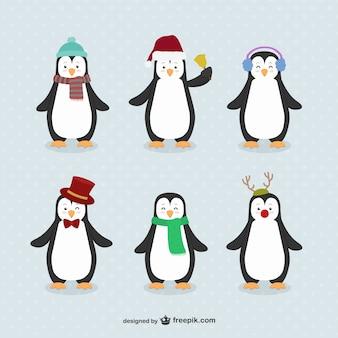 Desenhos animados do pinguim embalar