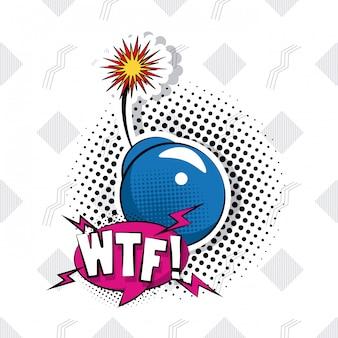 Desenhos animados do pop art wtf