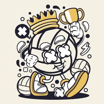 Desenhos animados do rei da bola da salva