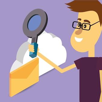 Desenhos animados do search engine