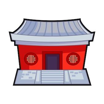 Desenhos animados do templo chinês
