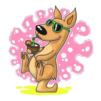 Desenhos animados engraçados do canguru