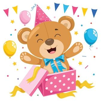Desenhos animados engraçados do urso de peluche