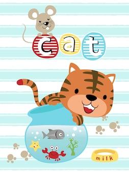 Desenhos animados engraçados dos animais de estimação