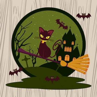 Desenhos animados engraçados e assustadores de halloween