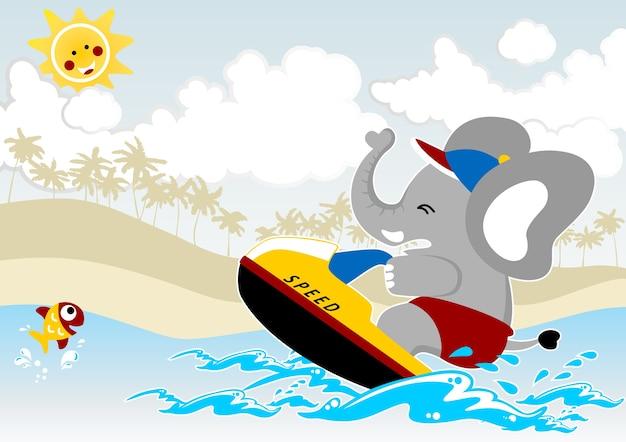 Desenhos animados esportivos de praia