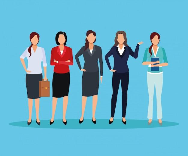 Desenhos animados executivos das mulheres