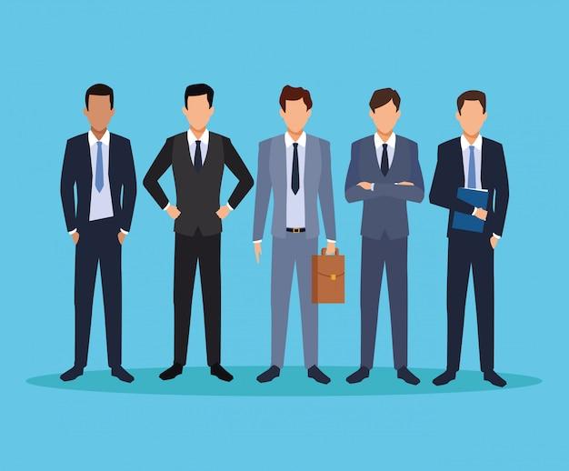 Desenhos animados executivos masculinos
