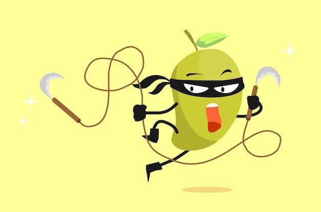 Desenhos animados mango ninja