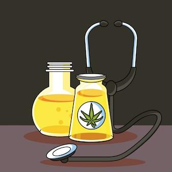 Desenhos animados médicos de canábis