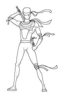 Desenhos animados ninja
