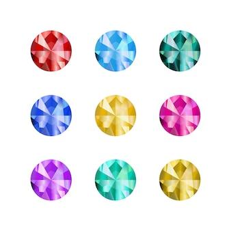 Desenhos animados pedras preciosas. pedra preciosa