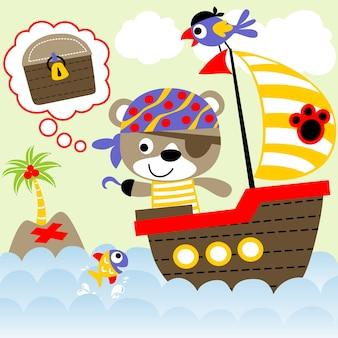 Desenhos animados piratas engraçados