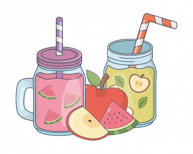 Desenhos animados refrescantes saborosos