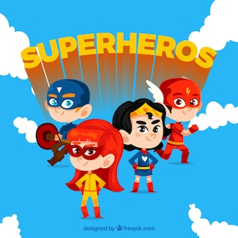 Desenhos animados set herói