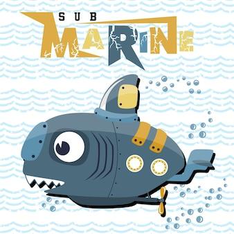 Desenhos animados submarinos