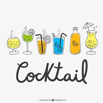 Desenhos cocktail embalar