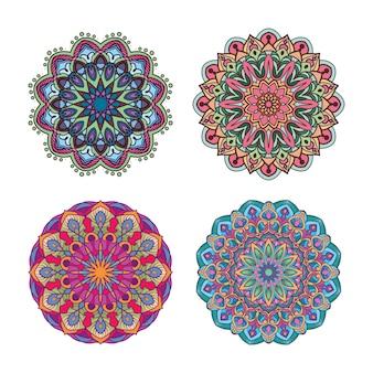 Desenhos coloridos de mandala