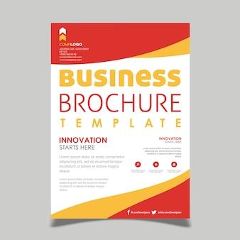 Desenhos criativos de brochura de vetor