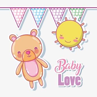 Desenhos de amor de bebê vector design gráfico ilustração