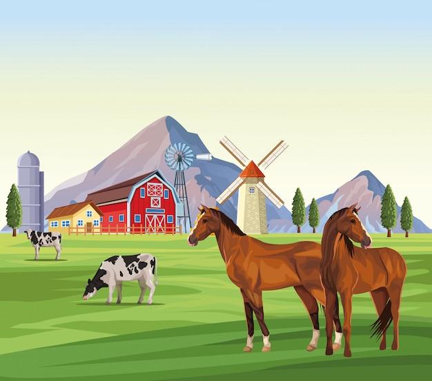 Desenhos de animais de fazenda