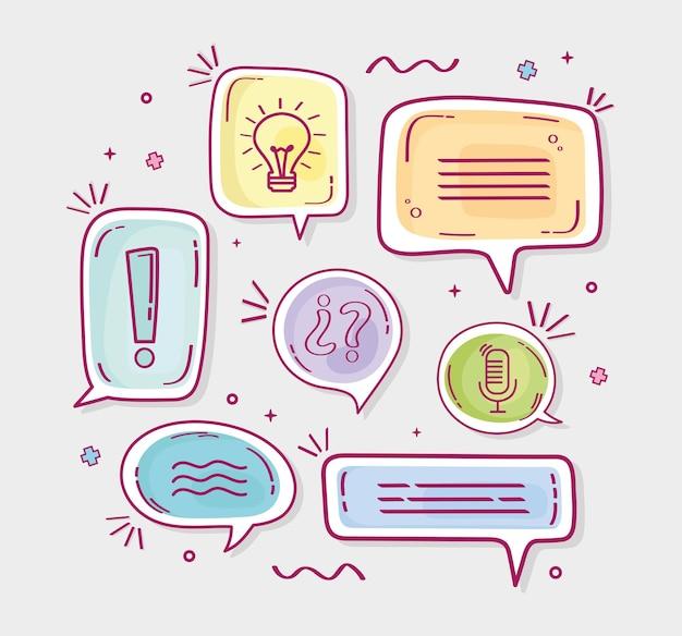 Desenhos de balões de fala