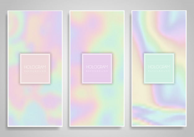 Desenhos de banner de holograma
