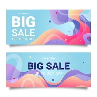 Desenhos de banners de grande venda