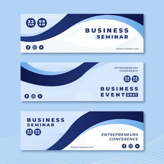 Desenhos de banners para seminários de negócios