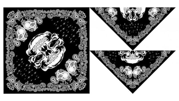 Desenhos de caveira bandana