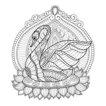 Desenhos de cisne para adultos