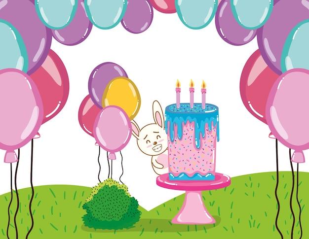 Desenhos de coelho feliz aniversário