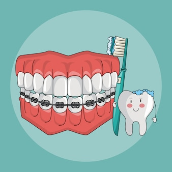 Desenhos de cuidados dentários