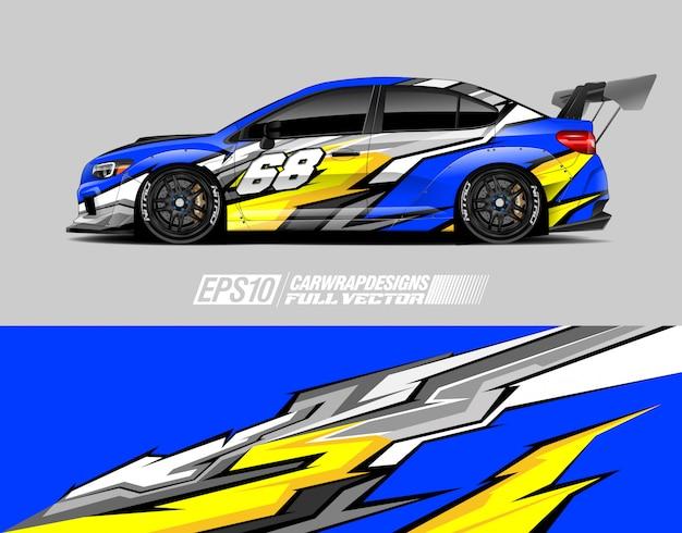 Desenhos de decalque de envoltório de carro de corrida
