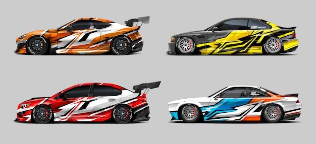 Desenhos de decalques de carros de corrida
