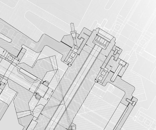 Desenhos de engenharia mecânica