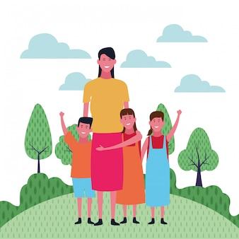 Desenhos de família e crianças