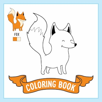 Desenhos de fox animals coloring book