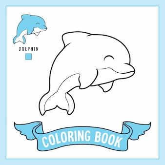 Desenhos de golfinhos para colorir livro