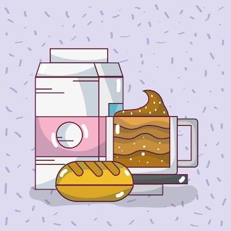 Desenhos de ingredientes alimentares