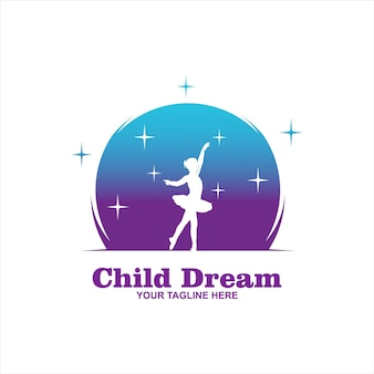 Desenhos de logotipo cloud dreams, logotipo kids dream, modelo de logotipo child dream
