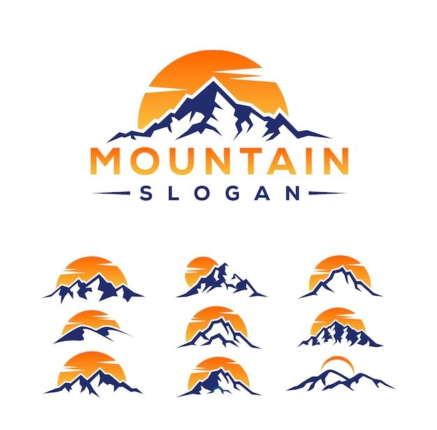 Desenhos de logotipo da montanha