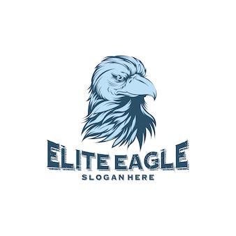 Desenhos de logotipo de cabeça águia