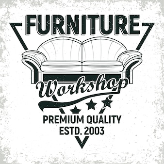 Desenhos de logotipo de oficina de móveis vintage