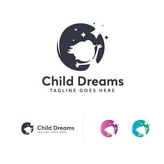 Desenhos de logotipo de sonhos de criança