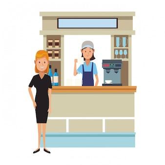 Desenhos de loja de café